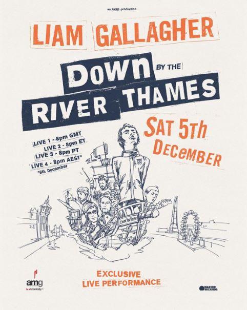 liam gallagher - Alle an Bord? Liam Gallagher überträgt am 05.12. ein virtuelles Konzert von der Themse