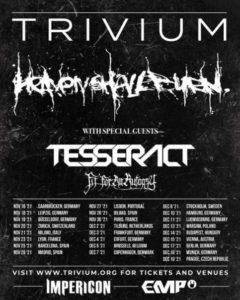 """trivium 240x300 - """"Die Tour, um das Touren zurück nach Europa zu bringen"""": Trivium kommen im Spätherbst 2021 nach Deutschland"""